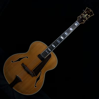 1998 Megas  Athena Non-Cutaway Blonde Archtop Electric Guitar for sale