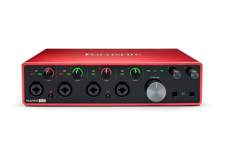 Focusrite Scarlett 18i8 USB Audio Recording Interface (3rd Gen)