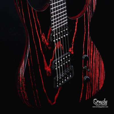 """Ormsby Hypemachine CustomShop Factory Custom 2021 """"Black Friday Black / Red grain fill"""""""