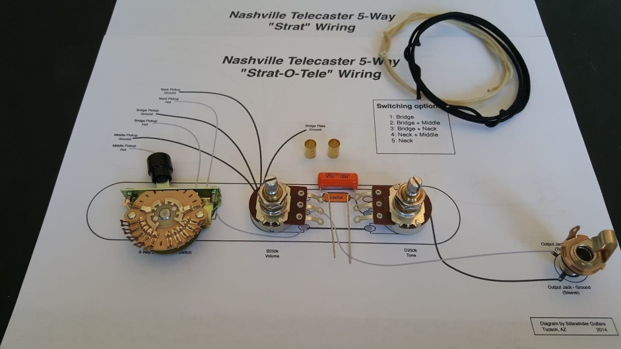 Nashville Power Telecaster Wiring Diagram Solutions 5 Way Super Switch Kit Reverb