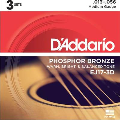 D'Addario EJ17-3D Strings Med 3pk