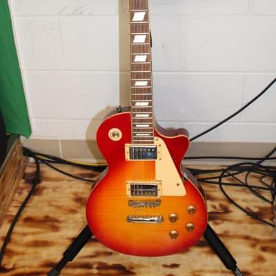 New York Pro Heritage Cherry Sunburst Les Paul Copy Electric Guitar for sale