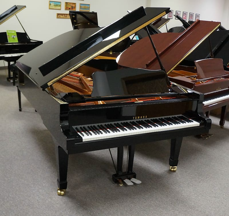 yamaha c7 grand piano black polish jim laabs music reverb. Black Bedroom Furniture Sets. Home Design Ideas