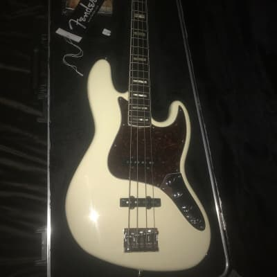 Fender American Deluxe Jazz Bass 2010 white for sale