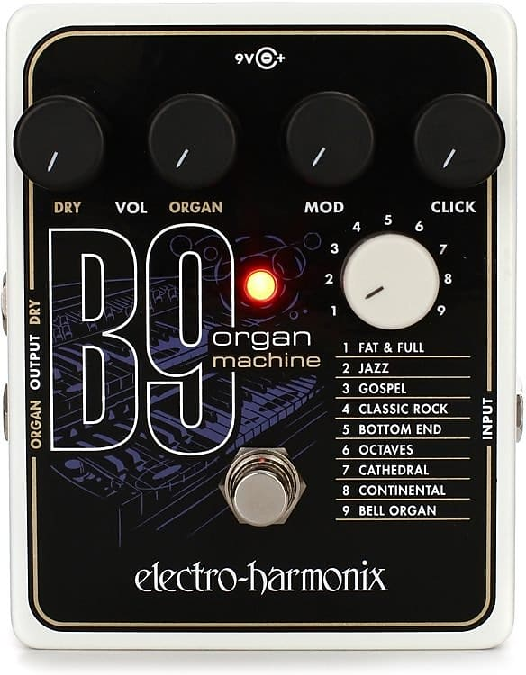 electro harmonix b9 organ machine guitar effects pedal reverb. Black Bedroom Furniture Sets. Home Design Ideas