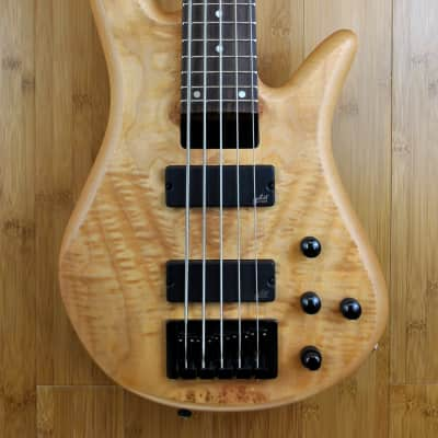Zon Sonus Standard 5 String Bass Figured Maple Burl for sale