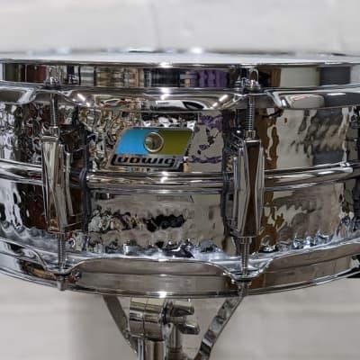 """Ludwig 5x14"""" Hammered Supraphonic Aluminum Snare Drum"""
