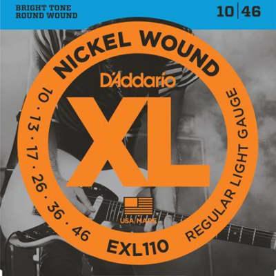 D'Addario EXL110 - Nickel Wound Regular Light Gauge, 10/46