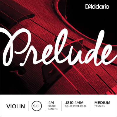 D'Addario Prelude Violin Strings, 4/4, G-Nickel Wound/Solid Steel Core