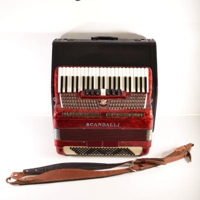 Rare Top Accordion Scandalli 120 bass, 9 sw.+Hard Case&New Shoulder Straps~Made in Italy~Fisarmonica