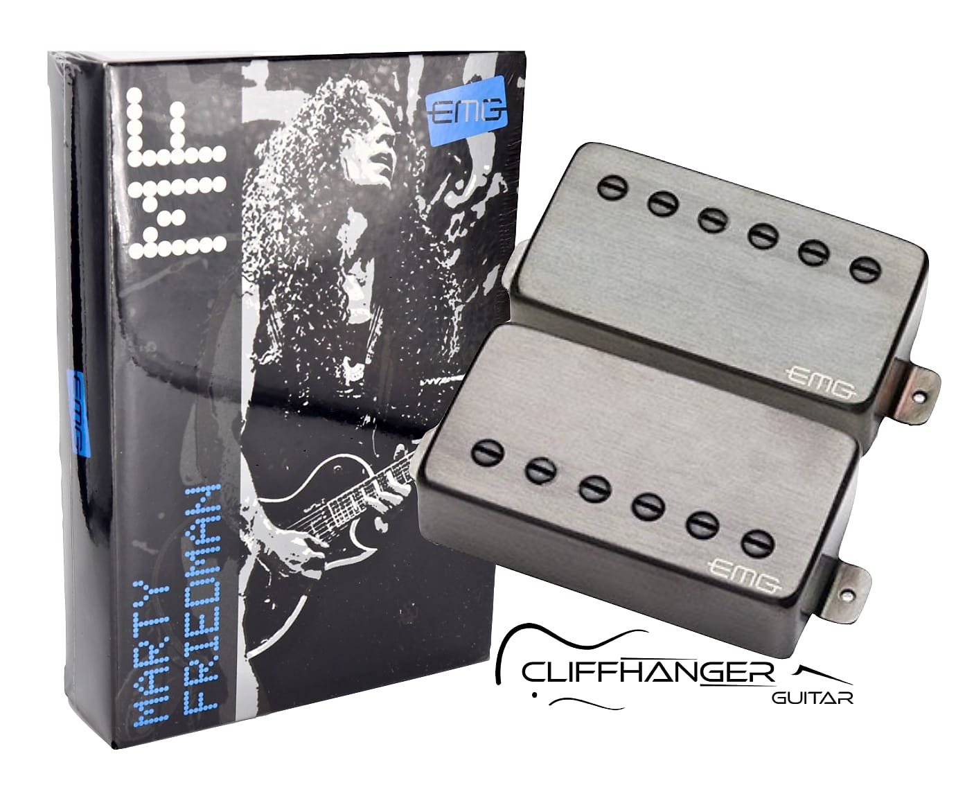 EMG MF-Marty Friedman Signature Humbucker Set Brushed Black Chrome