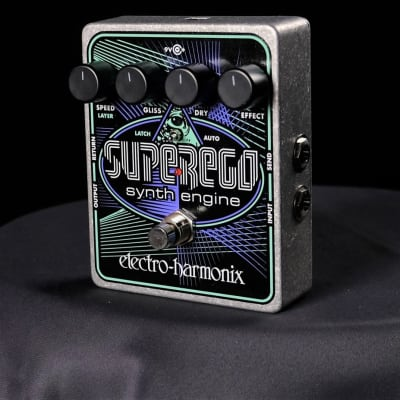 Used Electro-Harmonix SuperEgo Synth Guitar Effect Pedal With Box