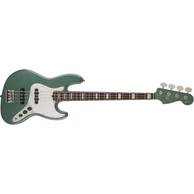 Fender Artist Series Adam Clayton Jazz Bass Guitar, 20 Frets, Custom C Neck, Rosewood Fingerboard, Passive Pickup, Gloss Urethane, Sherwood Green Meta for sale
