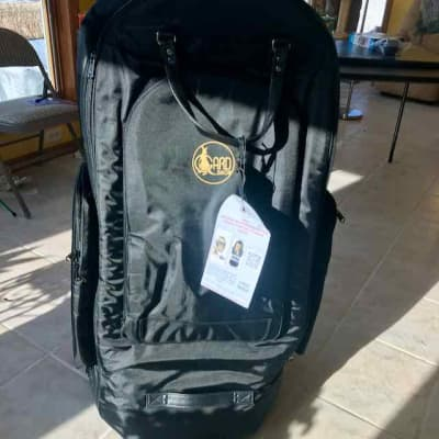 Gard Tuba Case - Wheelie Bag 62-WBFSK 2019 Black Synthetic w/ Leather Trim