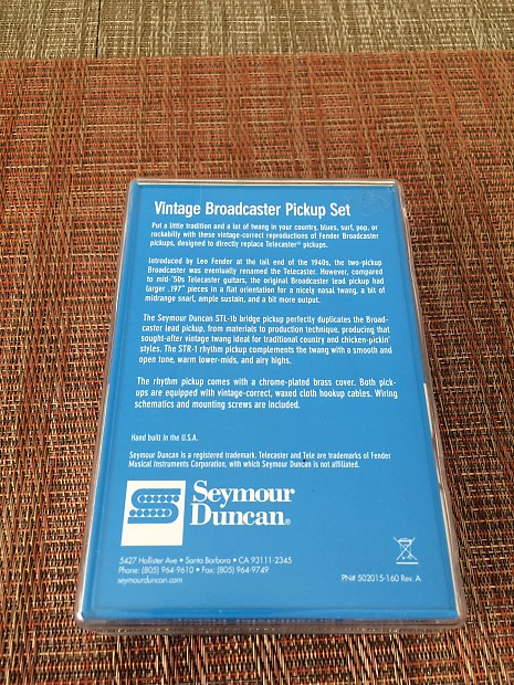 Seymour Duncan Vintage Broadcaster Telecaster Set STL-1b Silver, Black