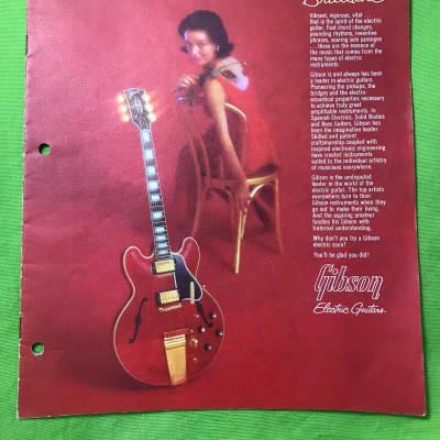 Vintage1964  Gibson hollowbody electric catalog EB-6 EB-3 Super 400 CES L-5 ES-175D