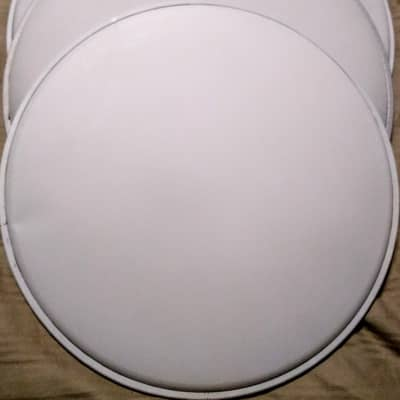 """DRUM HEADS PAIR  14"""" SINGLE PLY BATTERS - WHITE COATED"""