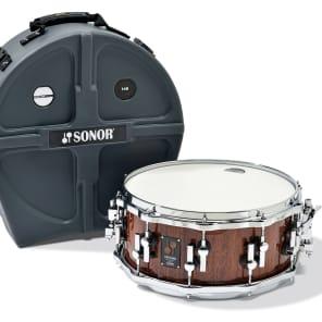 "Sonor One Of A Kind Series Red Tigerwood Veneer 14x6.25"" Beech Snare Drum 2014"