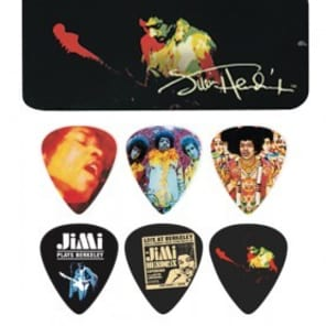 Hendrix Collectors Guitar Pick Tin   12 Picks  Band Of Gypsy for sale