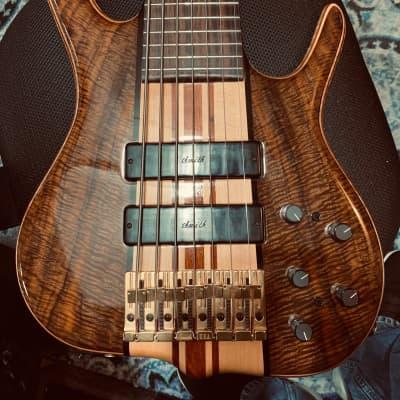 Ken Smith  MLD 7 String Contrabass Guitar 2000 Claro Walnut for sale