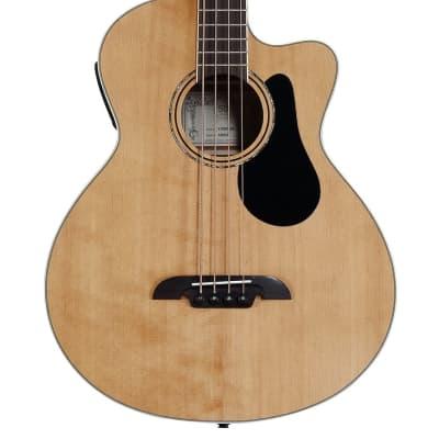 Alvarez Artist Series AB60-CE Acoustic-Electric Bass Guitar Natural for sale