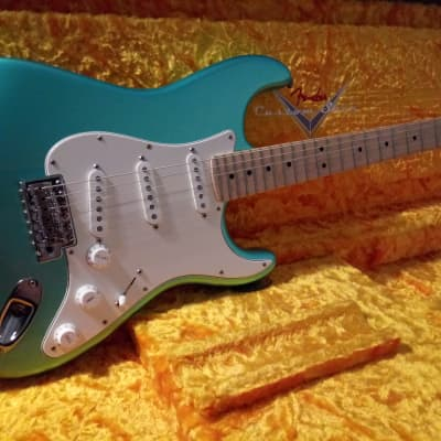 2017 Fender American Special Stratocaster Aqua Flake for sale
