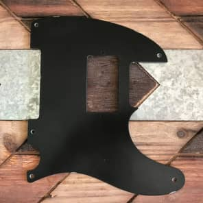 Real Life Relics Tele Telecaster Pickguard 1 ply 5 hole Bakelite Humbucker Opening Black Aged