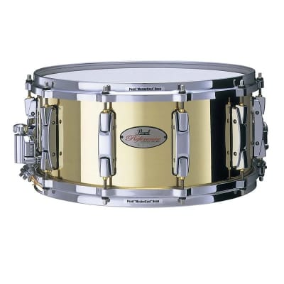 """Pearl RFB1465 Reference 14x6.5"""" Rolled Brass Snare Drum"""