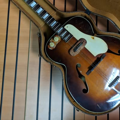 Sherwood Deluxe c. 1950 Sunburst Archtop w/ ohsc for sale