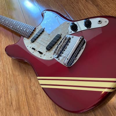 Fender Mustang 1973 Competition RI Old Candy Apple Red w/ Matching Headstock CIJ 2002