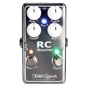 XOTIC RC Booster V2 Clean Signal Boost Guitar Effect Pedal GENTLY USED