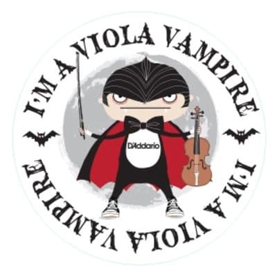 "D'Addario I'm A Viola Vampire 4"" Round Sticker"