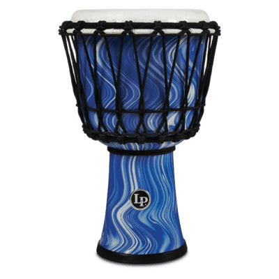 "Latin Percussion LP1607BM Blue Marble 7"" Rope Tuned Circle Djembe Drum"