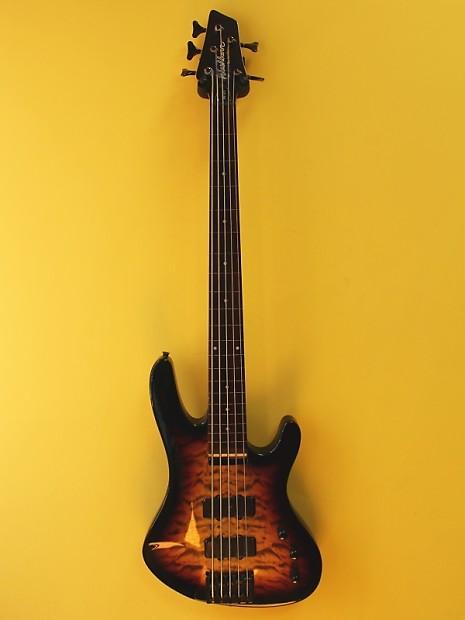washburn xb125 fretless 5 string electric bass guitar custom reverb. Black Bedroom Furniture Sets. Home Design Ideas