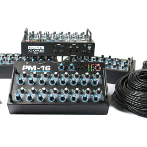 Elite Core Audio PM-16-CORE-4-DIGITAL Complete Personal Monitoring Mixer with ADAT Interface (4-Pack)