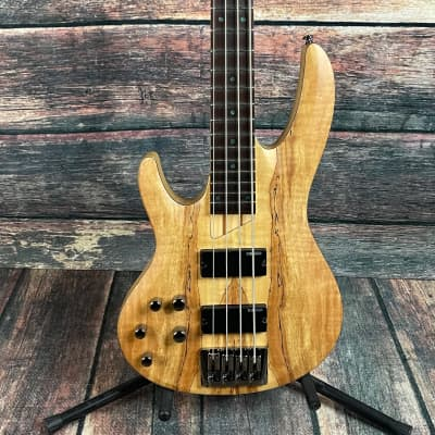 ESP/LTD Left Handed B-204SM Spalted Maple 4-String Electric Bass