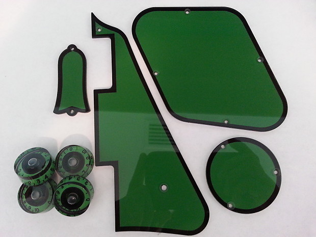 gibson usa les paul pickguard set army greenblack outline