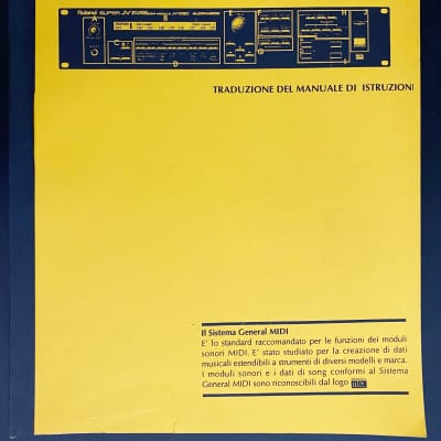 Roland JV 1080 Manuale Istruzioni
