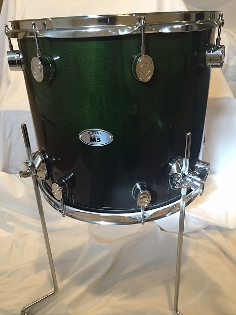 Pdp by dw m5 14x16 maple floor tom emerald green to for 14 inch floor tom