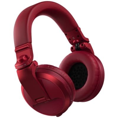 Pioneer DJ HDJ-X5BT Wireless Bluetooth DJ Headphones, Red