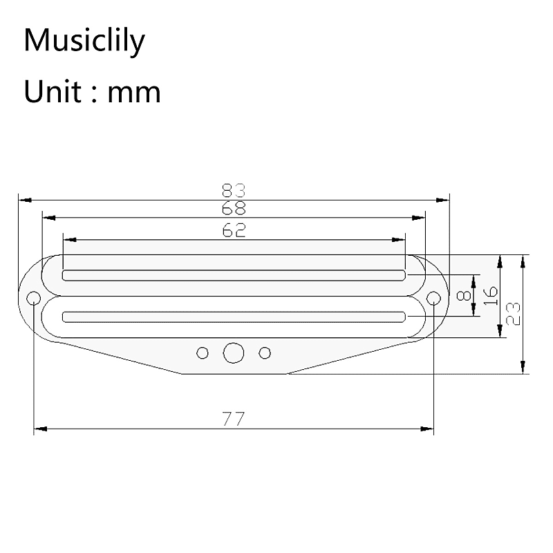 musiclily single coil size rail blaster humbucker pickup for reverb. Black Bedroom Furniture Sets. Home Design Ideas