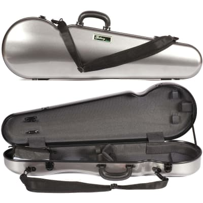 Galaxy Audio Galaxy Comet 300SL Shaped Gray Violin Case with Gray interior for sale
