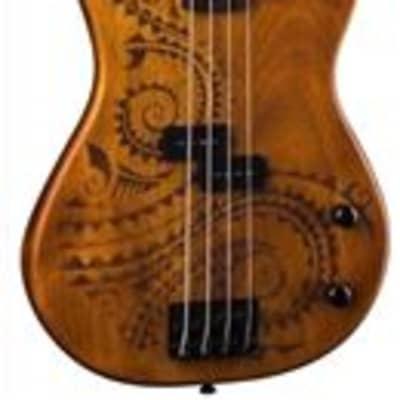 Luna Tattoo 4 String Electric Bass Guitar for sale