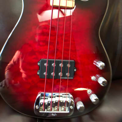 G&L 1500 2001 Red Burst-Curley Maple Bound Top. Matching Headstock. for sale