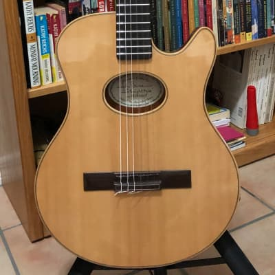 Buscarino Starlight Nylon with Barbera Pickup 2019 Lacquer on Natural Swamp Ash/Sitka Spruce Top for sale