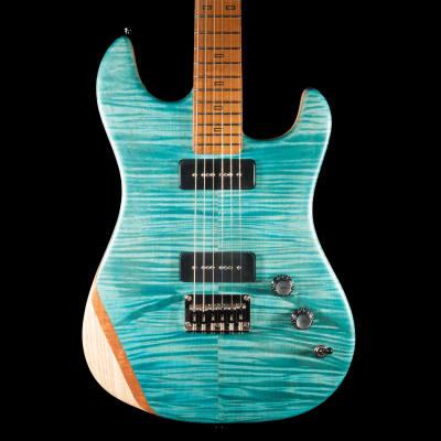 PJD Woodford Elite Guitar in Sea Blue w/ Natural Back for sale