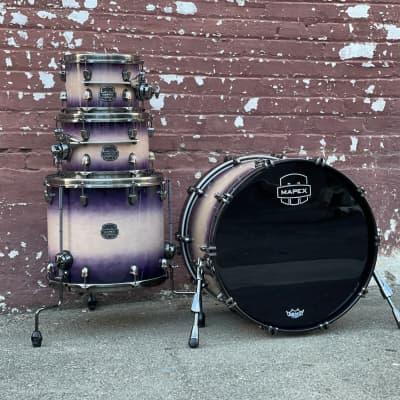 Mapex Saturn Evolution Birch 4-Piece Drum Set in Exotic Violet Burst