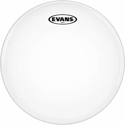 "Evans SB14MHW Hybrid White Marching Snare Drum Head - 14"""