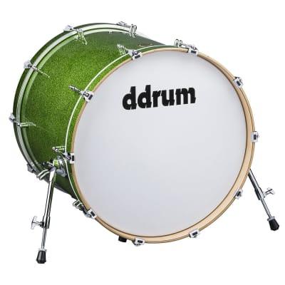 ddrum Dios Series Bass Drum 20x24 Emerald Green Sparkle