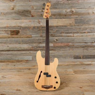 Fender PBAC-100 FL Electric-Acoustic Fretless Precision Bass MIJ